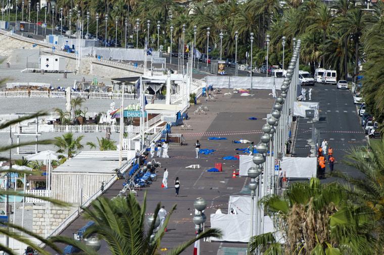 Image: Nice Bastille Day celebrations terror truck attack aftermath
