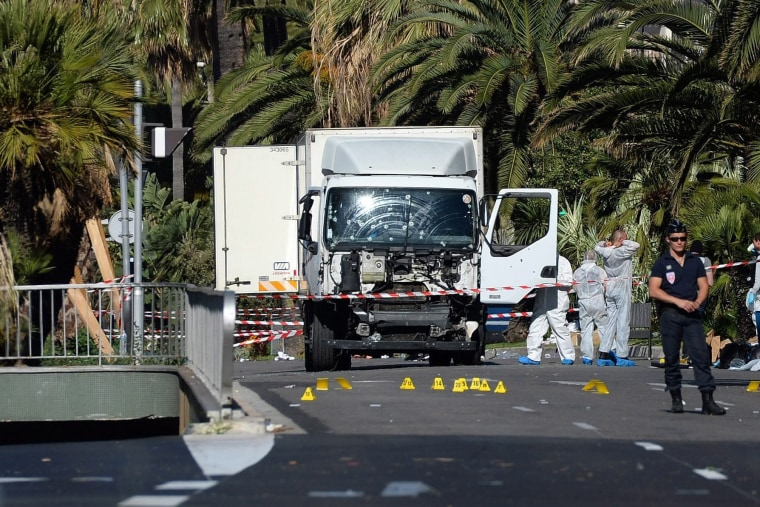 Image: The truck that crashed into Bastille Day revelers in Nice, France, on July 14, 2016