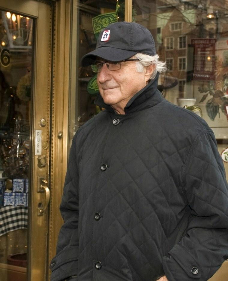 Image: Bernie Madoff on Dec. 17, 2008