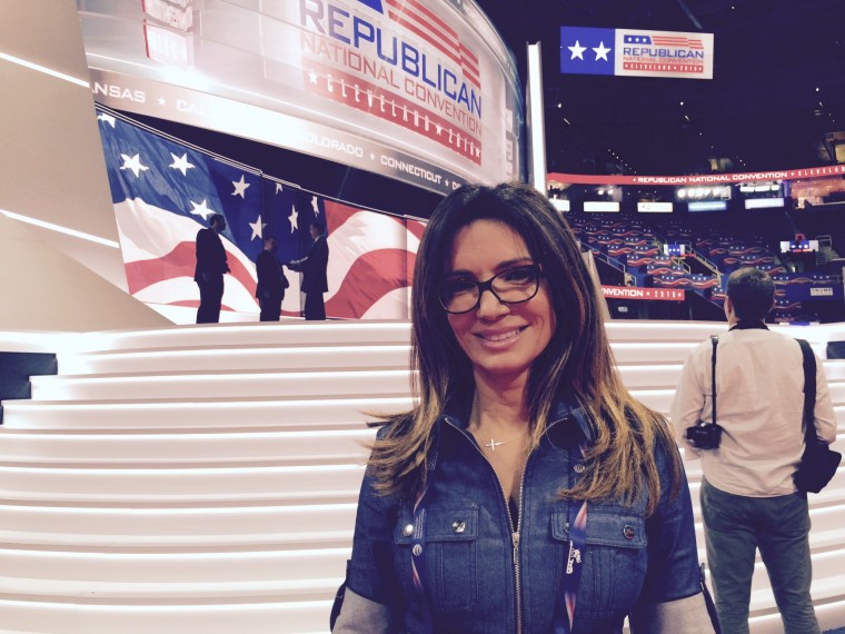 Ileana Garcia, who founded Latinas for Trump, at the Republican National Convention.