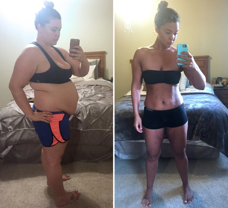 Justine McCabe before and after weight loss