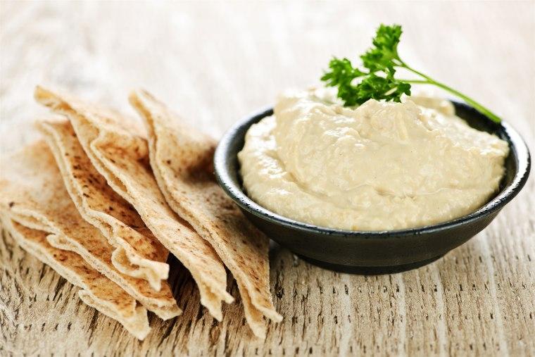 """Hummus (\""""HOOM-uhs\"""")"""