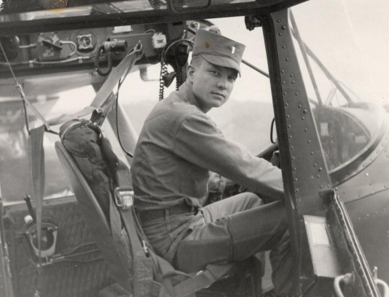 Image: U.S. Army Maj. Charles Kettles at the controls of an Army L-19 aircraft