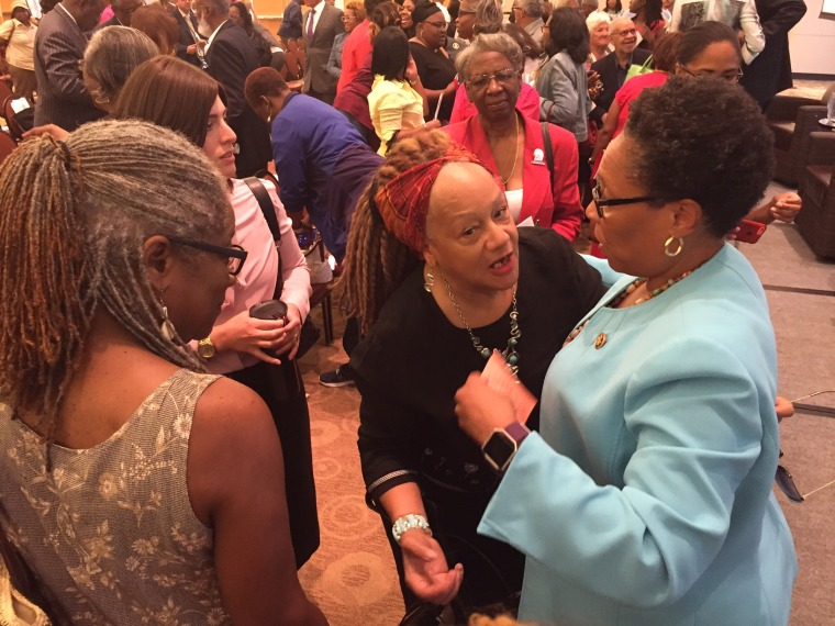 "Ohio Congresswoman Marcia Fudge (D-Ohio) hosted an event entitled ""The United States of Voting"" in Cleveland on July 18."