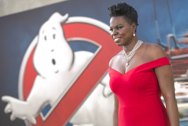 "Image: Actress Leslie Jones attends the Los Angeles Premiere of ""Ghostbusters"" in Hollywood"