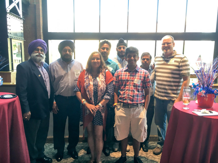 Family and friends of Azaadjeet Singh, the first Sikh to serve on the Council for the Village of Woodmere, attend APIAVote briefing in Cleveland, Ohio, home of the 2016 Republican National Convention.