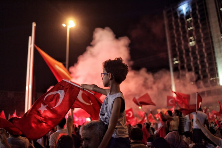 Image: Erdogan Supporters Gather In The Streets