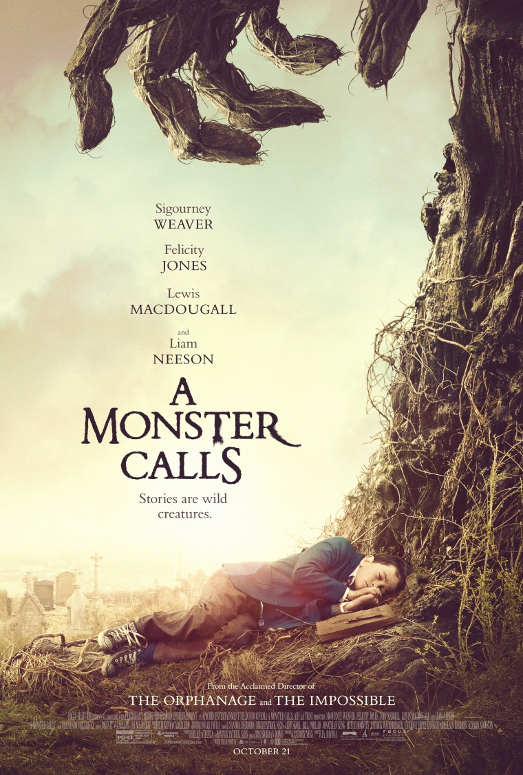A Monster Calls starring director J.A. Bayona Movie Poster