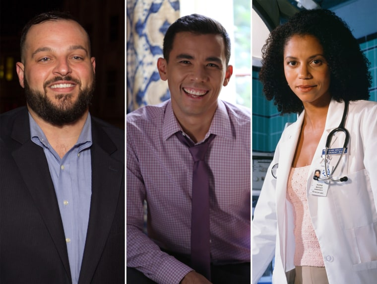 """Daniel Franzese of """"Looking,"""" Conrad Ricamora of """"How to Get Away With Murder"""" and """"ER's"""" Gloria Reuben."""