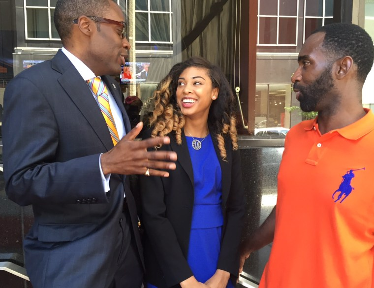 Telly Lovelace, Leah LeVell and Paris Dennard discuss a busy day two at the Republican National Convention on July 19.