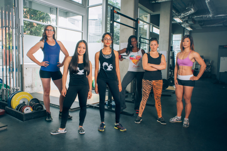 Women who use Spitfire Athlete, a women's strength training app.