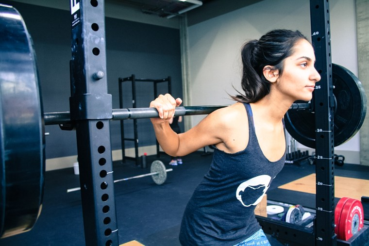 Spitfire co-founder Nidhi Kulkarni is a female engineer and competitive weightlifter.