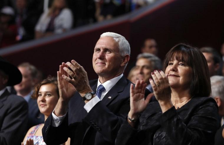 Image: Mike Pence, Karen Pence, Charlotte Pence