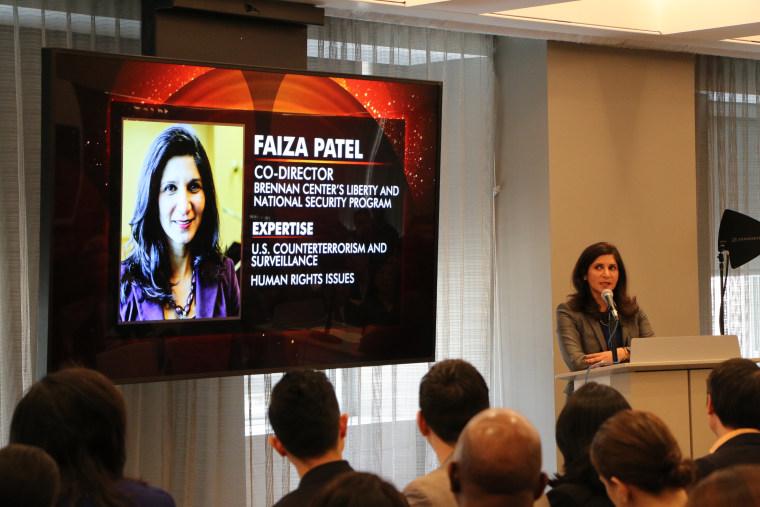 Faiza Patel, March 24, 2016