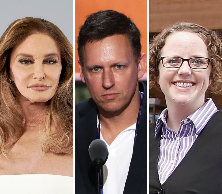 Image: Caitlyn Jenner, Peter Thiel and Rachel Hoff