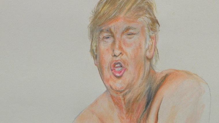 """Part of artist Ilma Gore's """"Make America Great Again"""" drawing"""