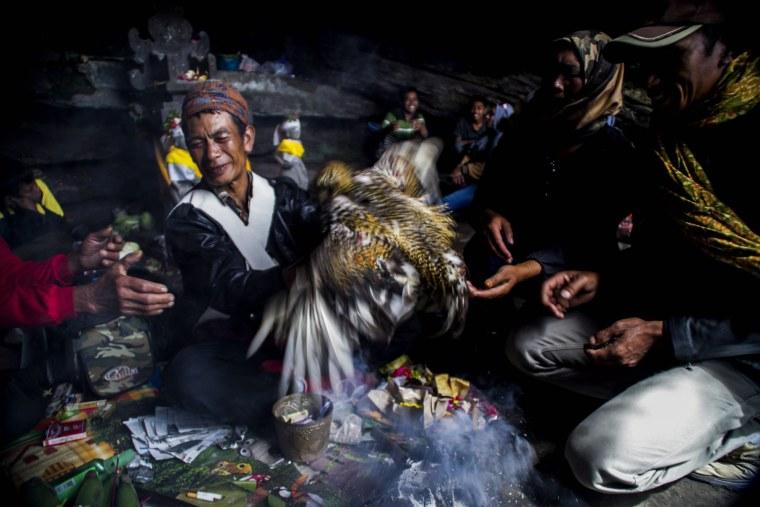 Image: Kasada Ceremony in Mount Bromo