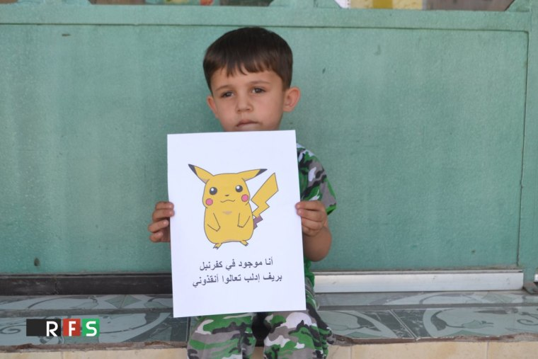 A group called the Revolutionary Forces of Syria is now using the popular Pokemon characters to appeal to the West for urgent help against the Syrian government.