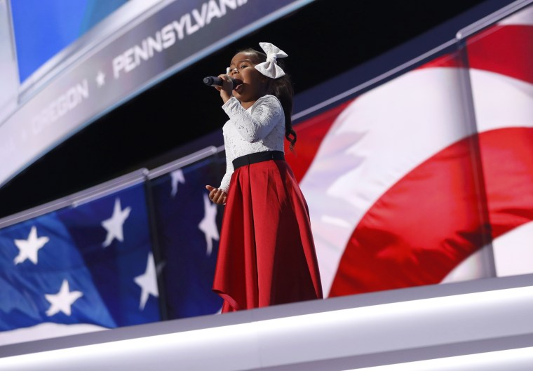 Image: Heavenly Joy sings at the opening of the final session of the Republican National Convention in Cleveland