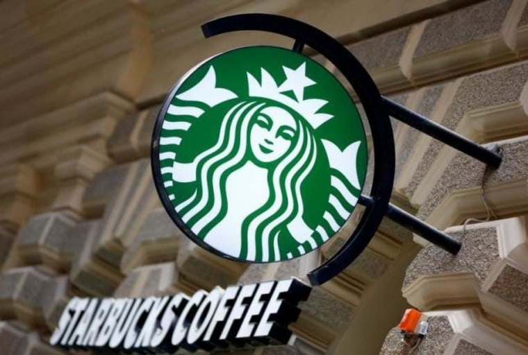 A Starbucks logo is seen at a Starbucks coffee shop in Vienna