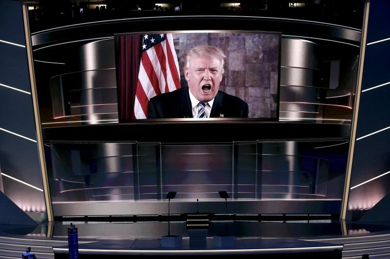 Image: Republican presidential nominee Trump