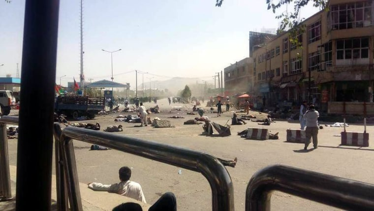 Image: Bomb blast hit protest demonstration in Kabul