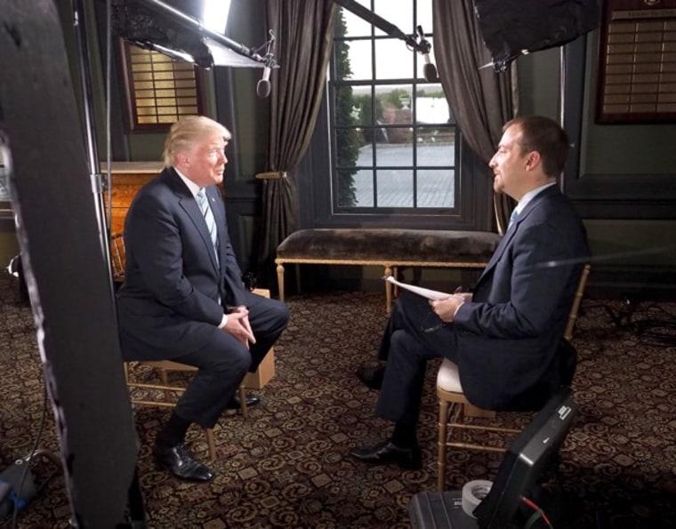 Donald Trump appears on NBC's Meet the Press