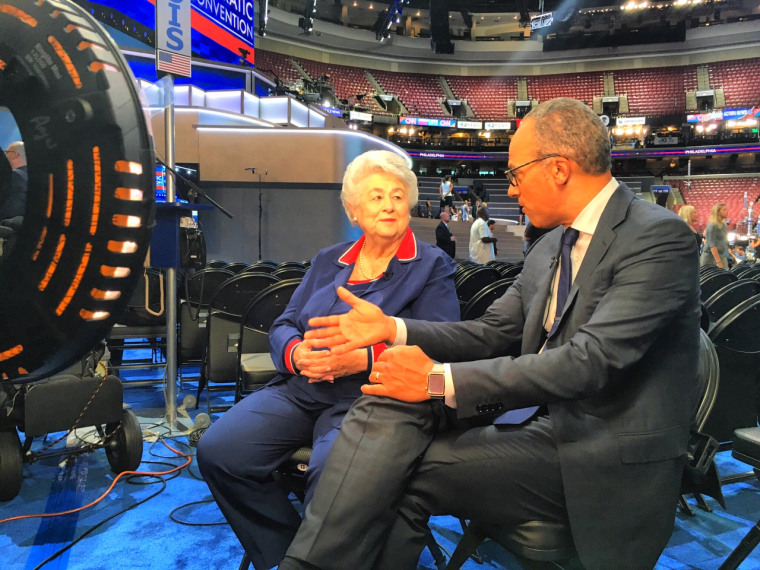 IMAGE: Roz Wyman and Lester Holt
