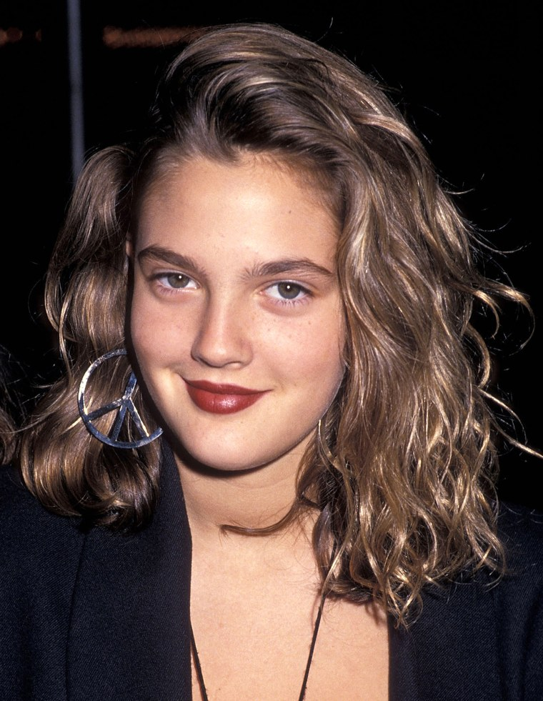 Drew Barrymore's hair evolution Drew Barrymore