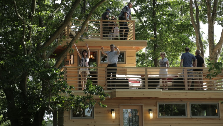 Frank Lloyd Wright-inspired treehouse