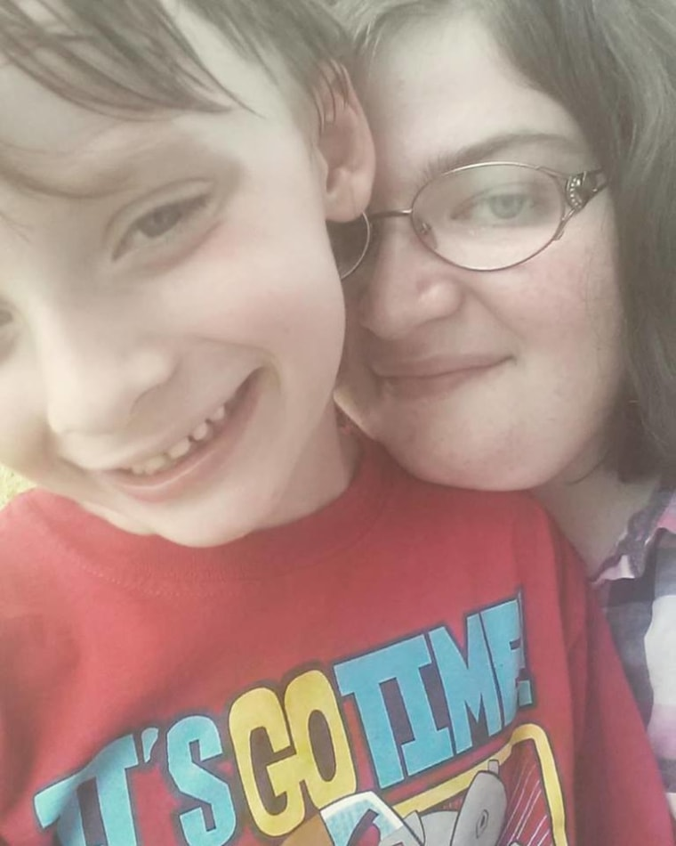 Jennifer Corter and son
