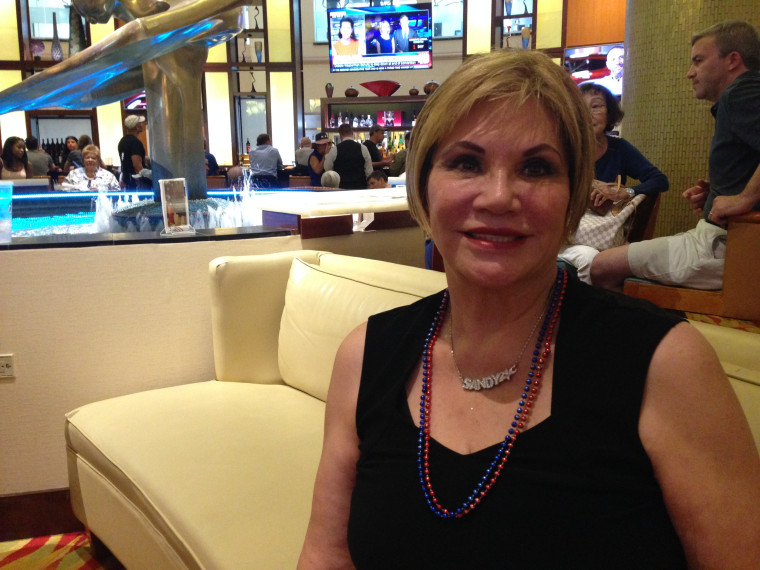 Sandy Piña, a business owner, was a Hillary Clinton delegate to the Democratic National Convention in 2016. She posed for this July 24, 2016 photo.