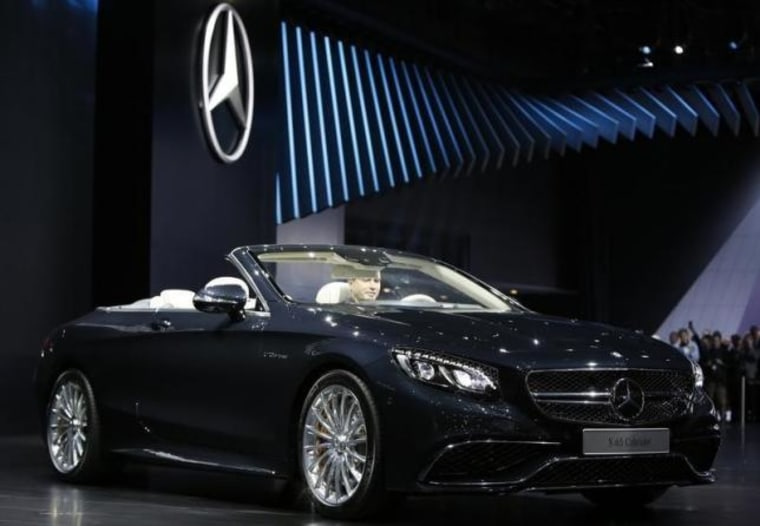 The 2016 Mercedes-AMG S 65 Cabriolet is displayed at the North American International Auto Show in Detroit