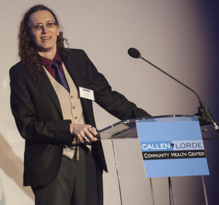 Laura Jacobs is a psychotherapist and the Chair of the Board of Directors of the Callen-Lorde Community Health Center.