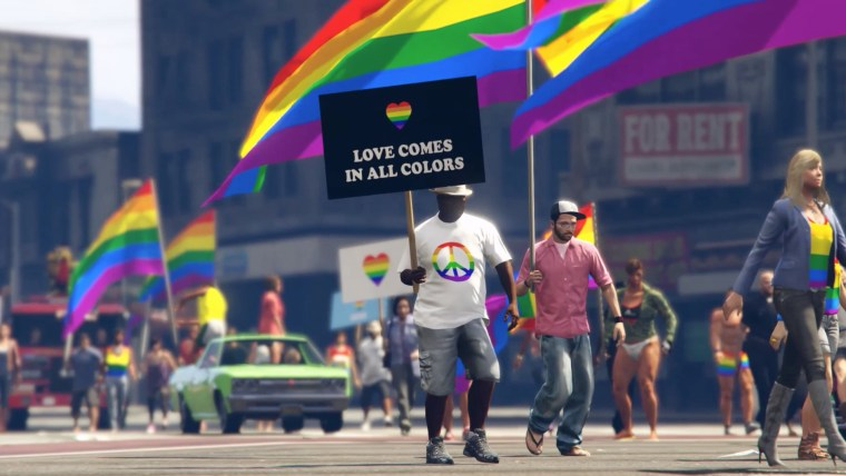 Los Santos Pride is an unofficial modification for the Grand Theft Auto 5 video game.