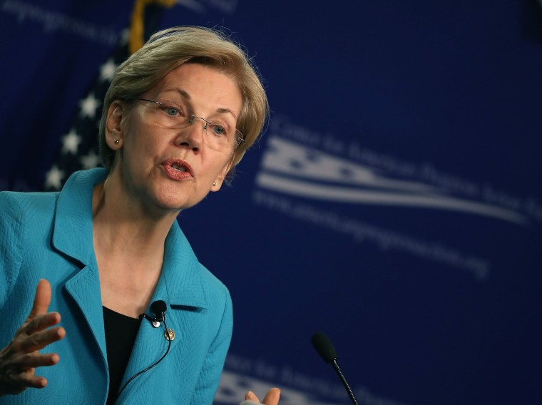 Image: Sen. Elizabeth Warren (D-MA) Speaks At The Center For American Progress On The American Middle Class