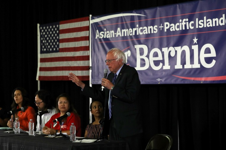 Image: Bernie Sanders Holds Campaign Rally In Palo Alto, CA