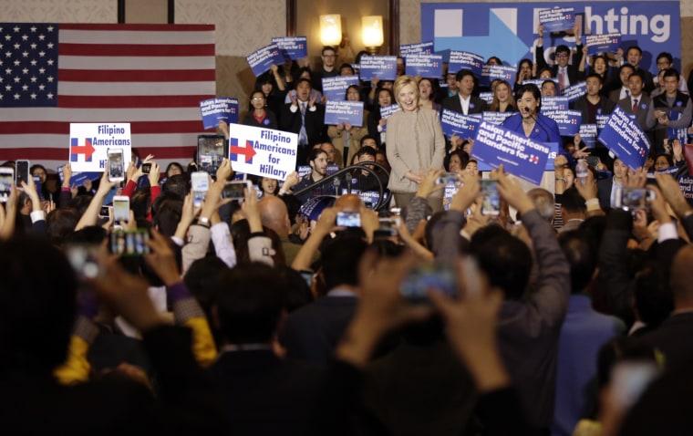 Image: Hillary Clinton, Judy Chu