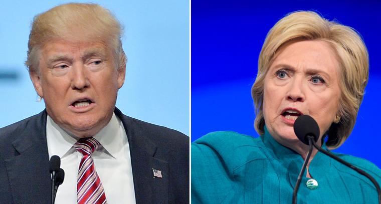 Donald Trump and Hillary Clinton composite.