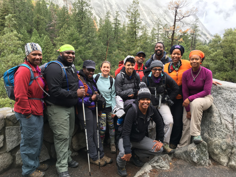 Outdoor Afro leaders in Yosemite National Park, April, 2016.