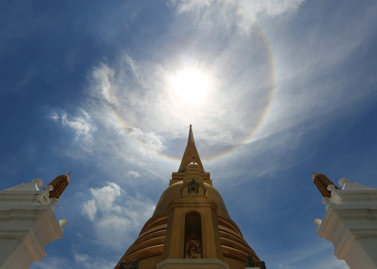 Image: Halo is seen in Bangkok's sky