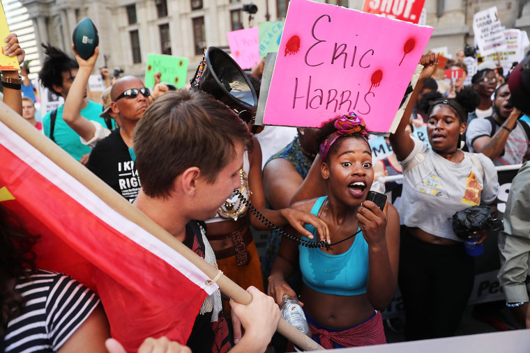 Image: Protesters Demonstrate In Philadelphia During The Democratic National Convention
