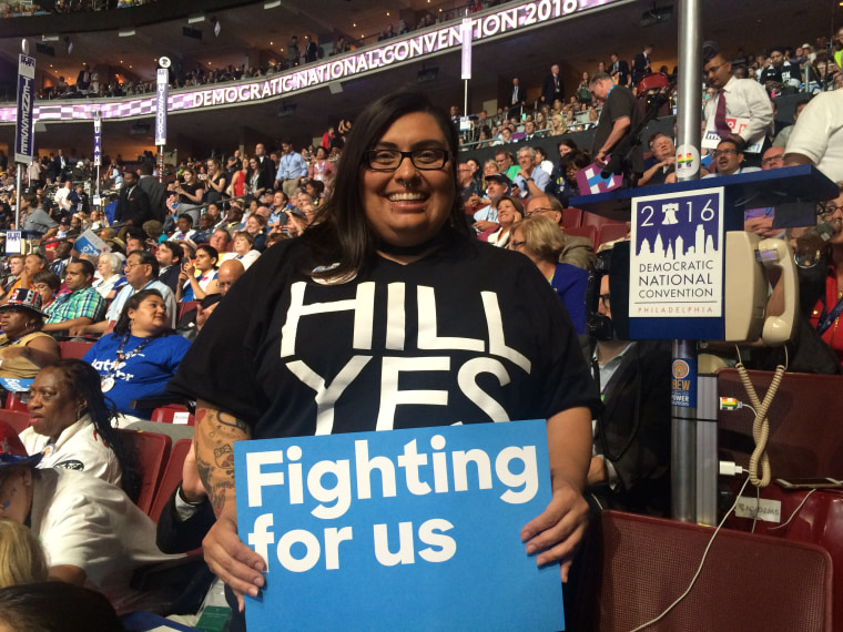 Alicia Tucker is a Hillary Clinton Nevada delegate to the 2016 Democratic National Convention.