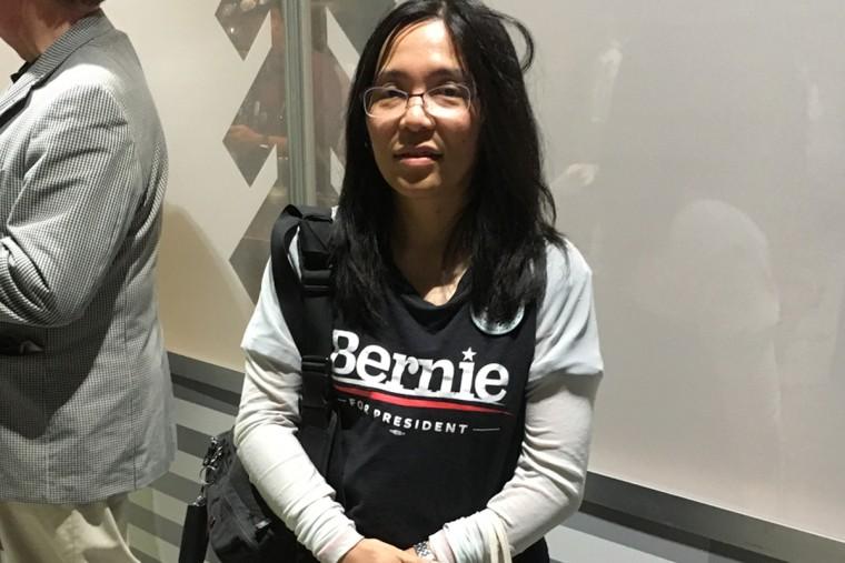 Margaret Okuzumi, a Sanders delegate from California