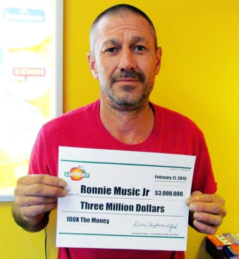 Ronnie Music, Jr. won the lottery in February 2015, but is being charged of using his winnings to purchase and distribute meth.