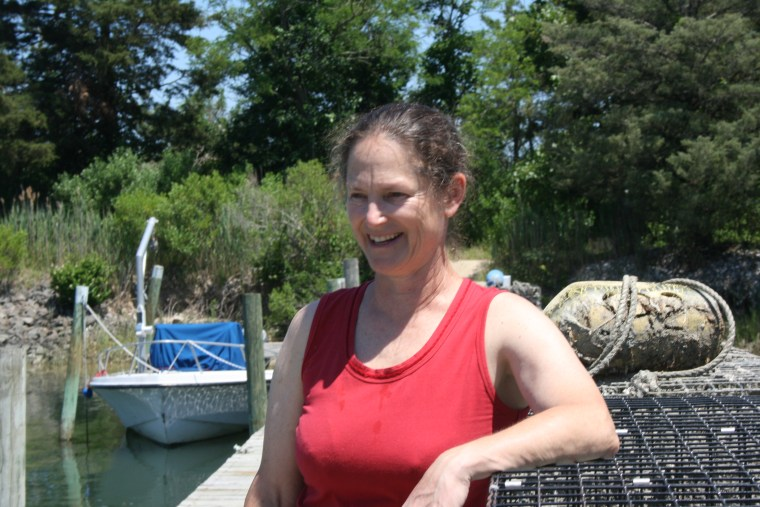 Karen Rivera of Southold, New York, hopes to add seaweed cultivation next year to her shellfish hatching operations on Long Island's Peconic Bay.