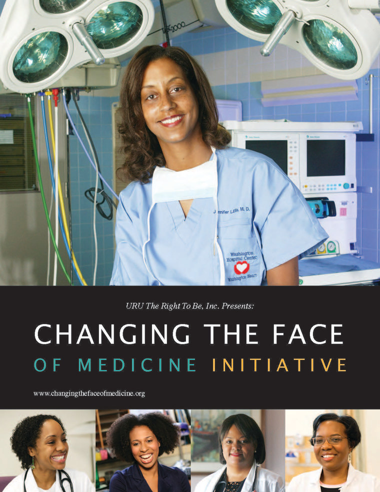 Promotional flier for Crystal Emery's Changing the Face of Medicine initiative on July, 29, 2015. Dr. Aletha Maybank is on the bottom second from the left.