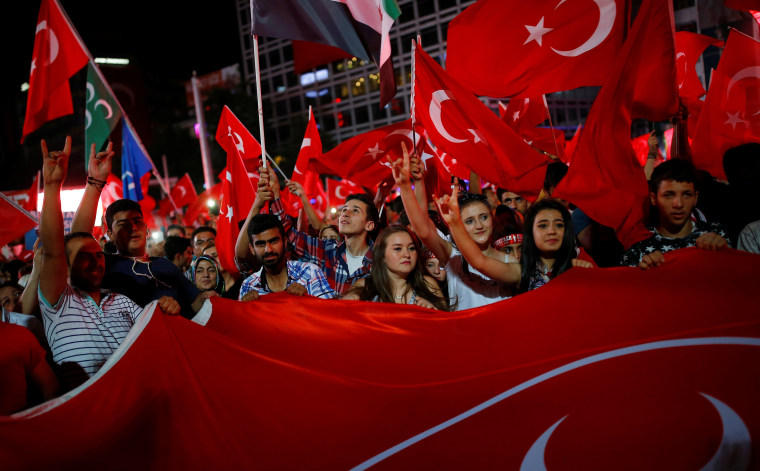 Image: A solidarity rally in Ankara, Turkey, on July 27, 2016