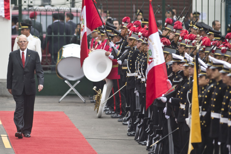 Peru President Pedro Pablo Kuczynski arrives to swearing in as Peru president
