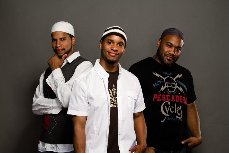 From left, Joshua Salaam, Abdul-Malik Ahmad and Naeem Muhammad of Native Deen pose in 2010.